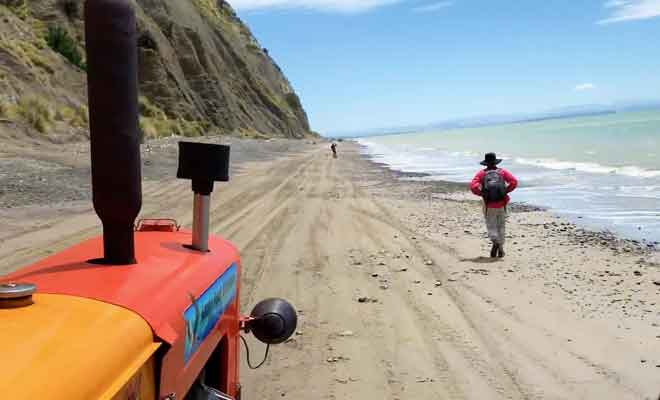 Excursion en tracteur sur la plage