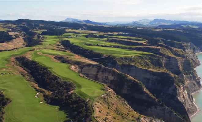 Survol du golf de Cape Kidnappers