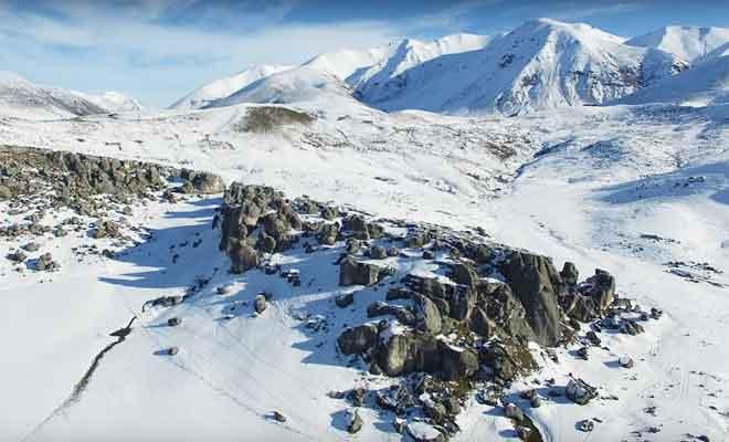 Castle Hill sous la neige