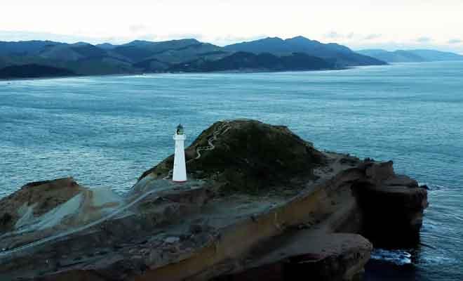 Survol du phare avec un drone