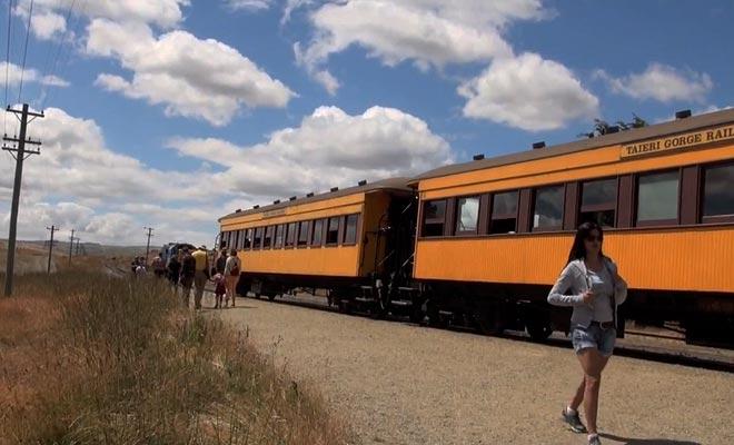 Le train traverse une grande variété de paysage et emprunte des tunnels et des viaducs à couper le souffle.