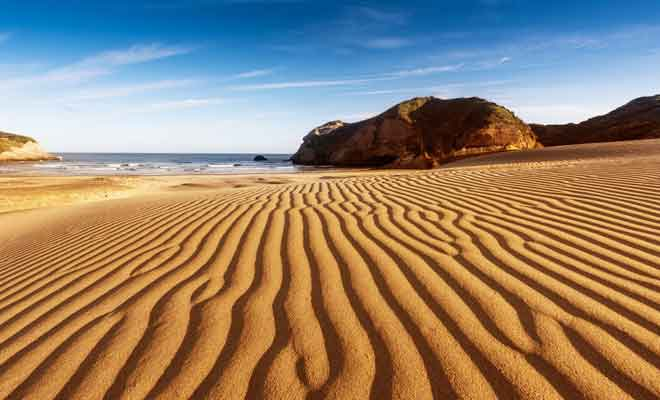 Beaux paysages de Wharariki Beach