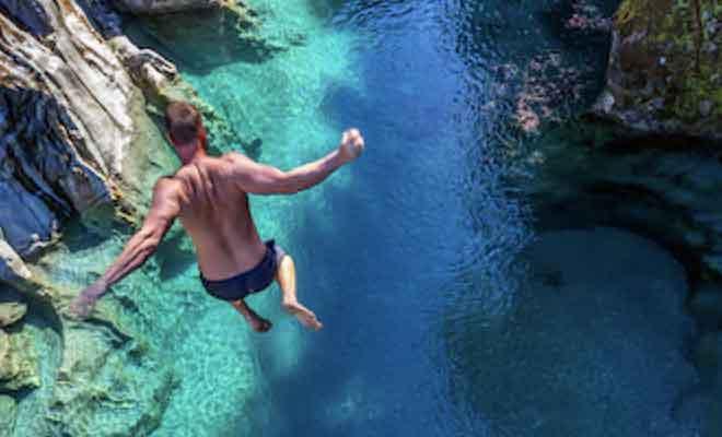 Plonger dans les Blue pools