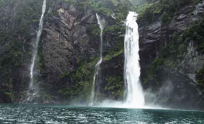Le fjord par mauvais temps