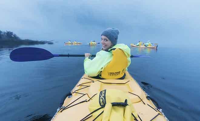Reportage sur le kayak sur le fjord
