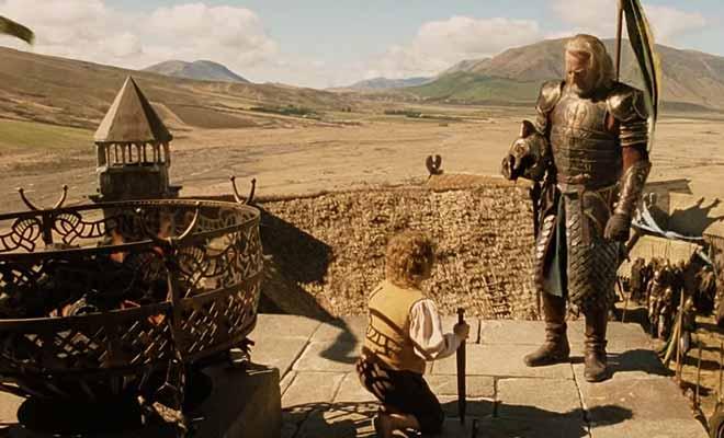 Aragorn signale l'appel à l'aide du Gondor à Theoden