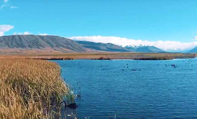 Ashburton Lakes filmés avec un drone