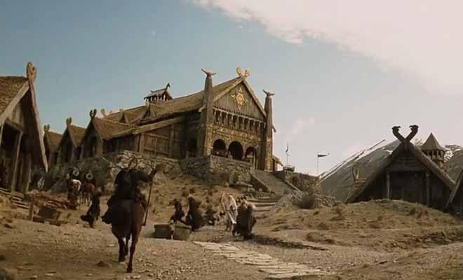 Gandalf traverse la plaine devant Edoras
