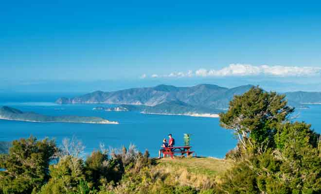 Panoramas des Marlborough Sounds