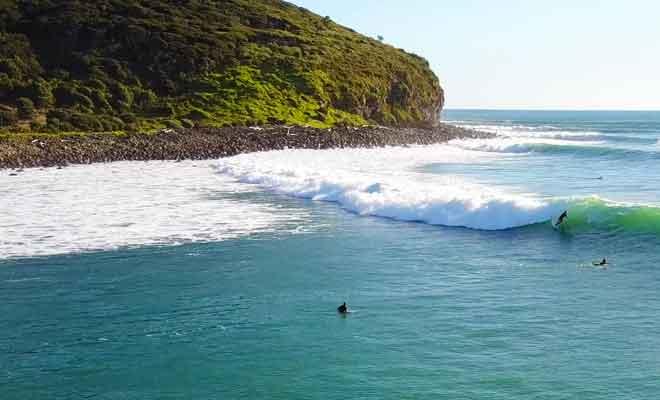 Le surf filmé par un drone