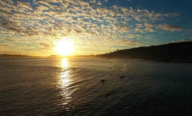 Surf en fin de journée