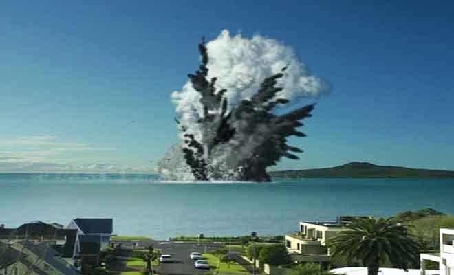 Simulation d'éruption volcanique