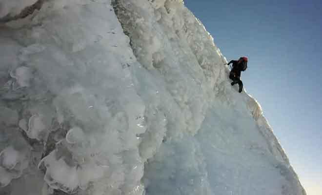 Taranaki Summit Track en hiver