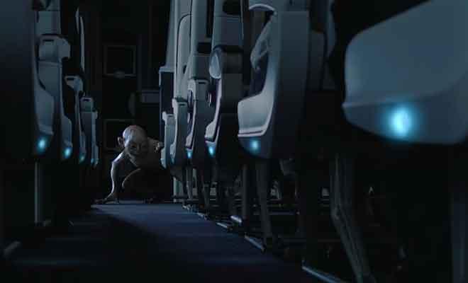 Une campagne d'Air New Zealand pour la sortie du Hobbit au cinéma.