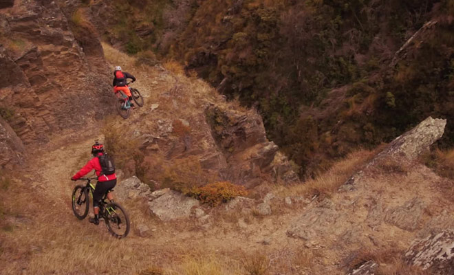Une belle vidéo qui montre une descente en VTT dans l'Otago Central sur l'île du Sud.