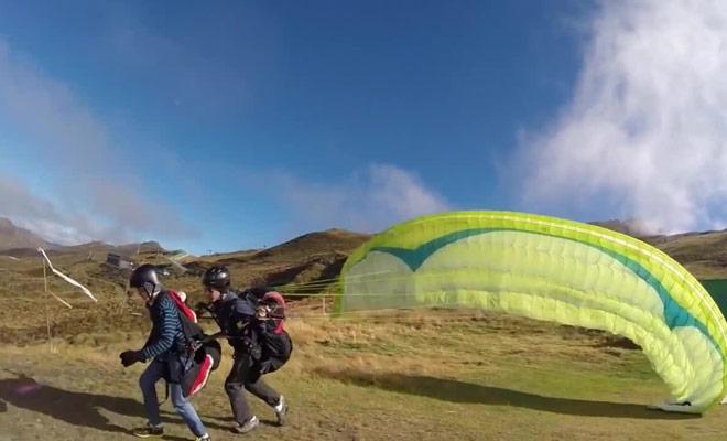 Un film consacré au parapente à Queenstown dans l'île du sud de la Nouvelle-Zélande.