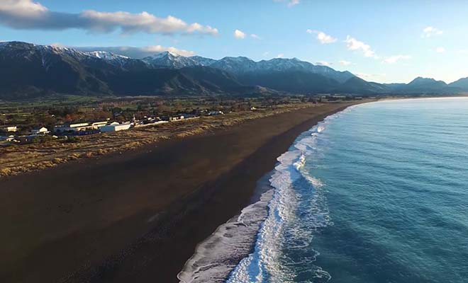 Péninsule de Kaikoura, plage