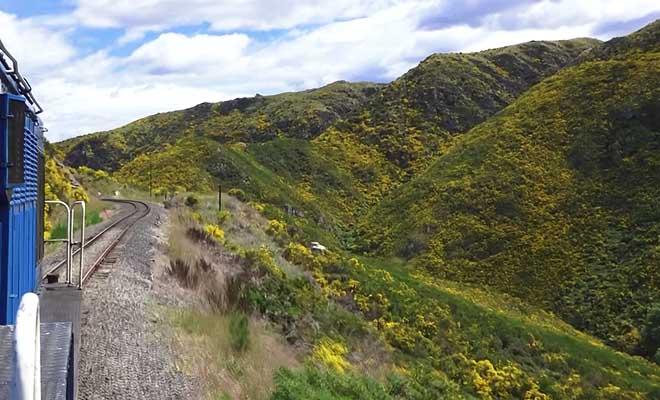 Taieri Gorge Railway au depart de Dunedin