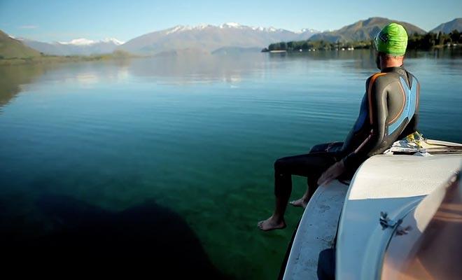 L'eau du lac est un peu fraîche, et une combinaison ne sera souvent pas de trop.