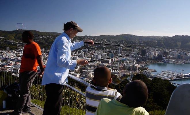 Le Mt Victoria offre un excellent panorama sur la ville, mais il est très venteux.