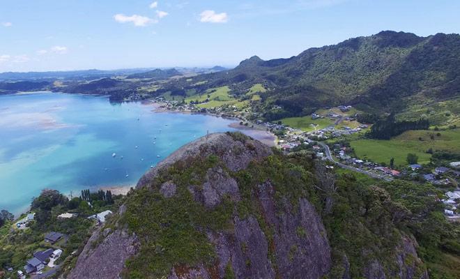 Survol du Mount Aubrey en drone
